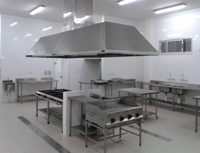 Bancada de Cozinha em Aço Inox  Eginox # Bancada Cozinha Inox Sob Medida